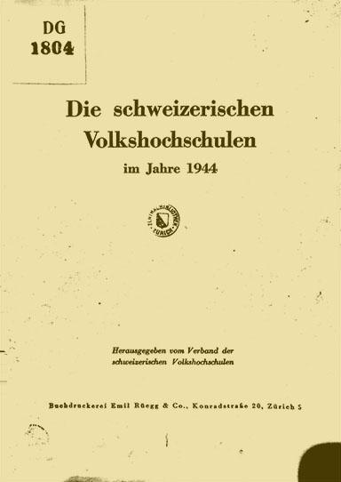 Verband der Schweizerischen Volkshochschulen